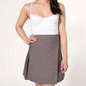 American Apparel Pleated school girl skirt